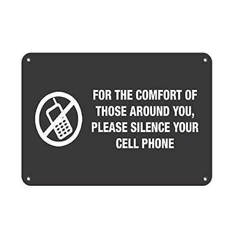 Para comodidad de todo por favor silencio teléfono celular ...