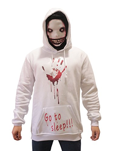 Autumn Hoodie Creepy Thicken Pullover Jacket Sweater Halloween Cosplay Costume (M, Man) -