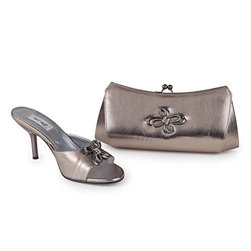 FARFALLA - Zapatos con tacón mujer Gris - gris
