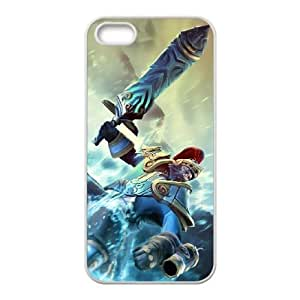 KUNKKA iPhone 5 5s Cell Phone Case White Phone Accessories LK_785623