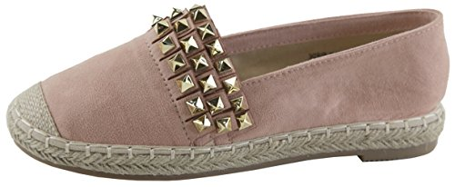 Espadrille Slip Flats Women's Studded Marie on Bella Pink Grommet wW5pY4qnI