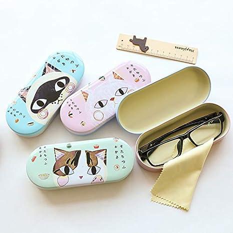 Shuda Porta Occhiali Custodia Occhiali Eye Glasses Cassa Modello di gatto per Occhiali da Sole Rigida