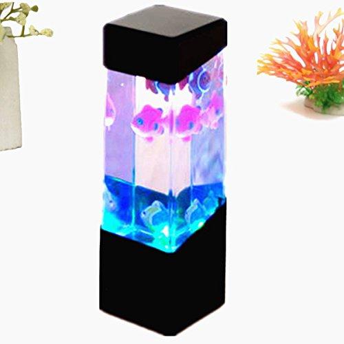 FOCUSPET Aquarium Quallen Wassertank Led Lichter Lampe entspannende Stimmung am bett