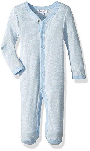 Splendid Baby Boys' Romper Jumpsuit One-Piece Coverall, Light Blue Heather, 0/3 -