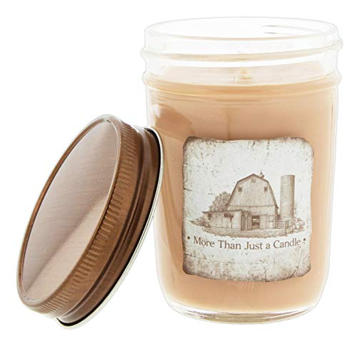 - 8 Ounce Handmade Soy-Lotion Candle (Apple Pie)