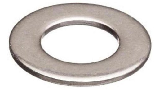 Brass Flat Washer, Nickel Plated Finish, No. 2 Screw Size, 0.09