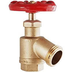 LDR 020 7904 3/4-Inch Heavy Duty Bent Nose Garden Valve, Brass