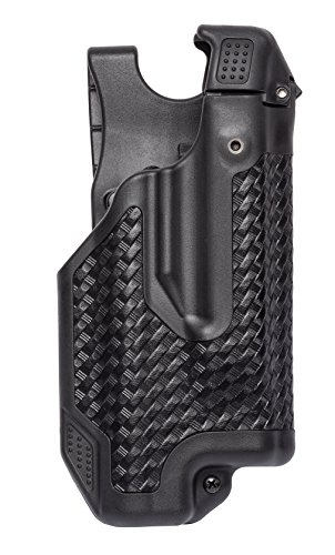 (BLACKHAWK! 44E000BW-R Glock 17/22/31 Basket Weave Epoch Level 3 Molded Light Bearing Duty Holster)