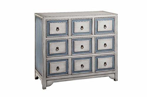 - Stein World Furniture 5-Drawer Chest, Polar White/Smoke Blue