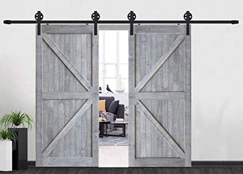 Millones de rodillos de puerta de granero doble sistema de ...