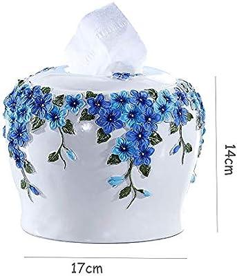 Caja De Pañuelos | Caja Pañuelos - Creativo europeo de moda retro lindo caja de pañuelos de papel simple caja Sala caja de papel del rollo de papel toalla tubo de resina
