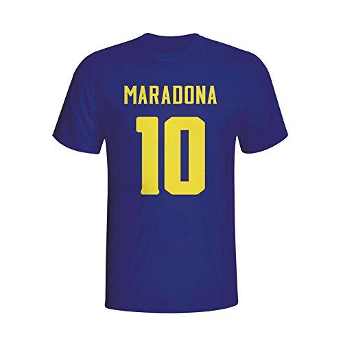 Diego Maradona Boca Juniors Hero T-shirt (navy) B01DUICAXINavy Large (42-44\