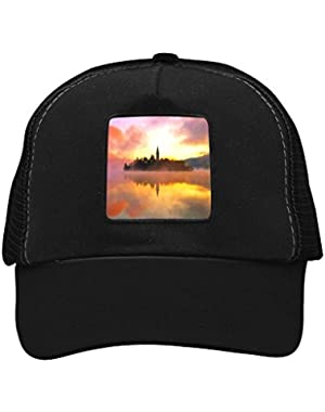 Unisex Sunset Bled Lake Adjustable Classic Hiphop Hat Baseball Cap Snapback Dad Hat
