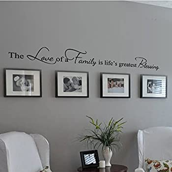 Family Decoration Wall Decal Couple Wall Stickers Living Room Wall Quotes  The Love Of A Family
