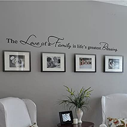 Gentil Family Decoration Wall Decal Couple Wall Stickers Living Room Wall Quotes  The Love Of A Family