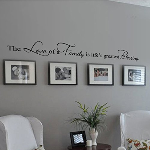Digtour Wallart Family Decoration Wall Decal Couple Wall Stickers Living Room Wall Quotes The Love Of A Family Is Life S Greatest