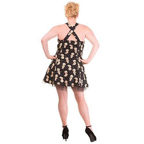 Banned Damen Neckholder Mini Kleid Voodoo Puppen - Distractions Voodoo Dolls Mini Dress bis 4XL