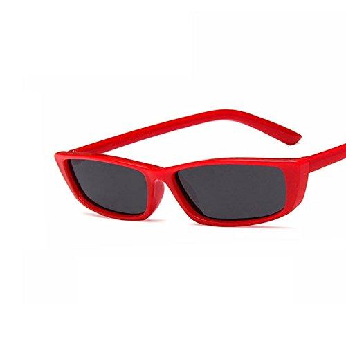 RED de negra rojo TL GRAY de Volver sol Sunglasses de Piazza Gafas mujer mujer sol gris rectángulo telón pequeña gafas gafas npHqnC