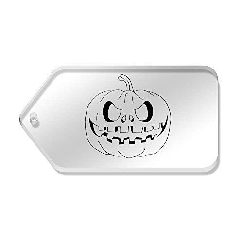 Etichette di Halloween' 10 X tg00022687 Azeeda 34 mm trasparenti 'Zucche 66 qw7OXcW5Fd