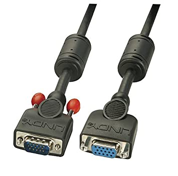 1m Lindy Rallonge VGA sans ferrite Prises m/âle//Femelle HD 15 Broches