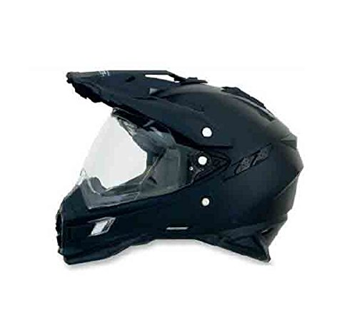 AFX FX-41DS Solid Helmet , Gender: Mens/Unisex, Helmet Type: Offroad Helmets, Helmet Category: Offroad, Distinct Name: Flat Black, Primary Color: Black, Size: Lg ()
