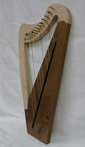 Zither Heaven 12-String Maple - Black Walnut Lap Harp by Zither Heaven
