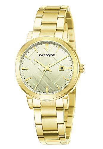 Cardqiou Women Watch, Stainless Steel Watch, Waterproof Quartz Dress Wristwatch by Cardqiou (Image #6)