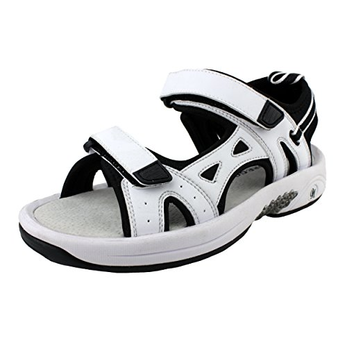 Oregon Mudders Women's WCS500N Golf Sandal with Turf Nipple Sole,US7/White