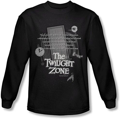 Twilight Zone - Herren Langarm-Shirt Monologue In Black, Small, Black