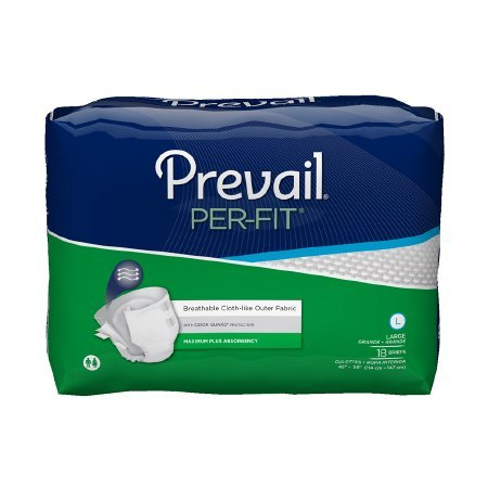 (Prevail Per-Fit Adult Briefs, Size Large, Full Case of 72 (193-3753))