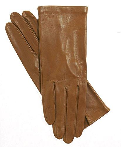 Fratelli Orsini Women's Italian Silk Lined Leather Gloves Size 8 Color 37-Butterscotch