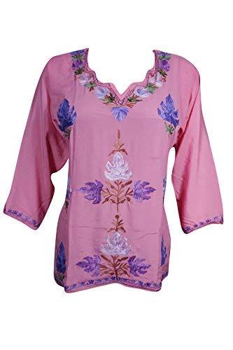 Mogul Interior Womans Embroidered Tunic Floral Bohemian Kurti Blouse   Amazon.co.uk  Clothing