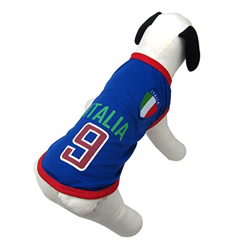 Alfie Pet - Ezra Soccer Jersey - Color: Italy, Size: XL]()