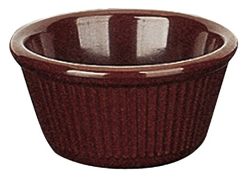 Yanco NC-531C Fluted Ramekin, 3 oz Capacity, 1.5' Height, 3.25' Diameter, Melamine, Chocolate Color, Pack of 72