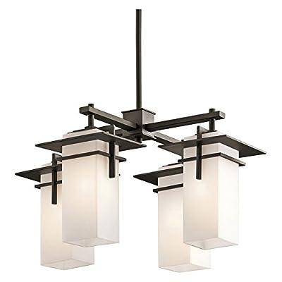 Kichler 49638 Caterham Indoor / Outdoor Mini Chandelier with 4 Lights- 21 Inches,