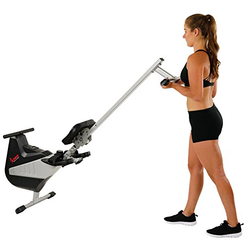 Sunny Health & Fitness SF-RW5634 Magnetic Rowing Machine Rower w/ LCD Monitor by Sunny Health & Fitness (Image #8)