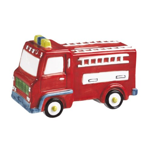 Fire Engine Coin Bank Piggy Bank - Red - Small At 5.75