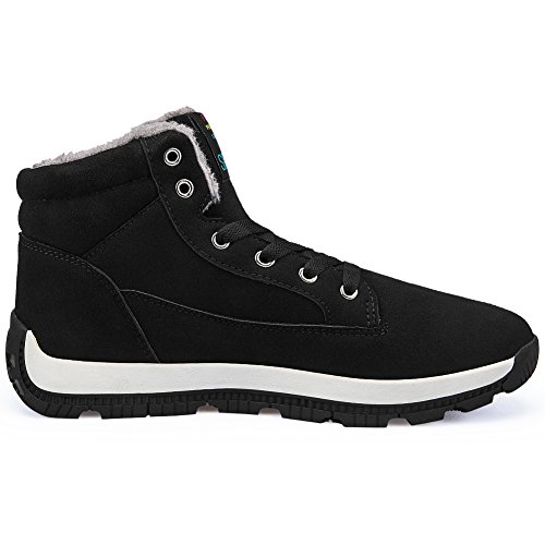 Sneaker Scarpe Avvio Uomo Sport Camminare Caviglia La Neve Nero39 Vilocy Pelliccia Stivali Inverno Gli Foderato FqXZzfB