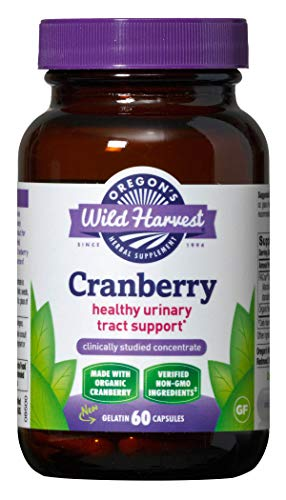Oregon's wild Harvest Non-GMO Gluten-free Cranberry, Organic Herbal Supplements (Packaging May Vary),  60 Count