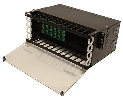 Fiber Patch Panel, Fixed, 4U, 12 Panels, Up to 96 Ports