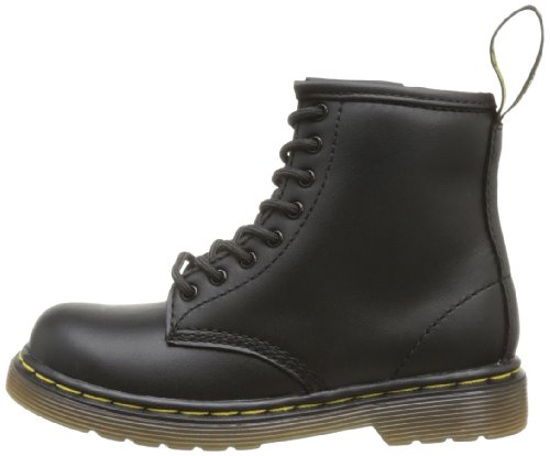Dr.Martens Brooklee Black Leather Infants Boots Black Softy T
