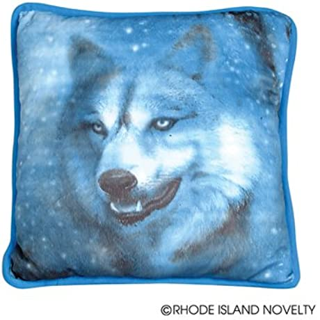 WOLF PRINTED PILLOW