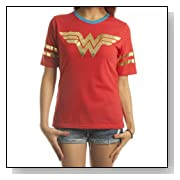 DC Comics All Foil Juniors Athletic T-Shirt