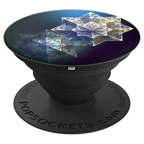 (Elegant PopSocket Grip, Victorian Style Snow Flake - PopSockets Grip and Stand for Phones and Tablets)