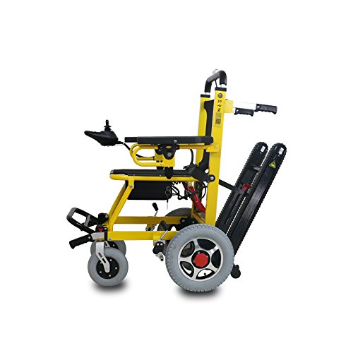 Foldable Electric Wheelchair Mobility Aid, can Climb Stair