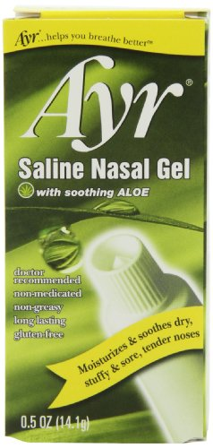 Ayr Saline Nasal Gel, With Soothing Aloe, 0.5 Ounce Tube (Gel Spray Soothing)