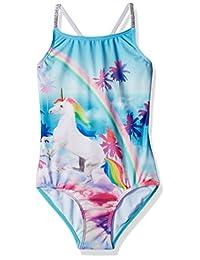 Rivstar - Correas elásticas para niñas con diseño de Unicornio Grande y Color Plateado