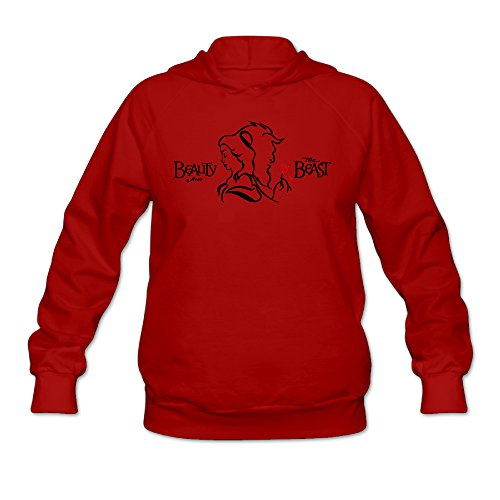 [Boxer98 Women's Hooded Sweatshirt Beauty And The Beast Size S Red] (Tim Drake Costume)