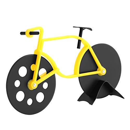 Norjews Pizzaschneider Fahrrad, Pizza Cutter aus Edelstahl Räder, Antihaftbeschichtung, Spülmaschinenfest