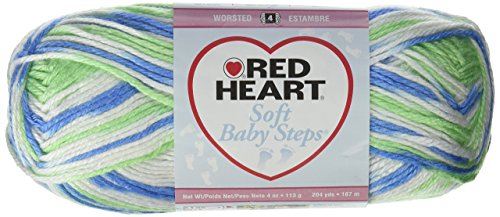 Bulk Buy: Red Heart Soft Baby Steps Yarn (3-Pack) Puppy Print E746-9932 (Red Heart Soft Baby Yarn)